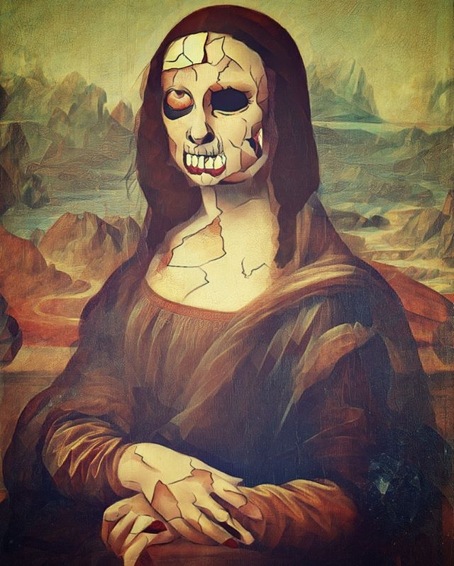 Mona Lisa Dead - monalisa, drawing - bordermind | ello