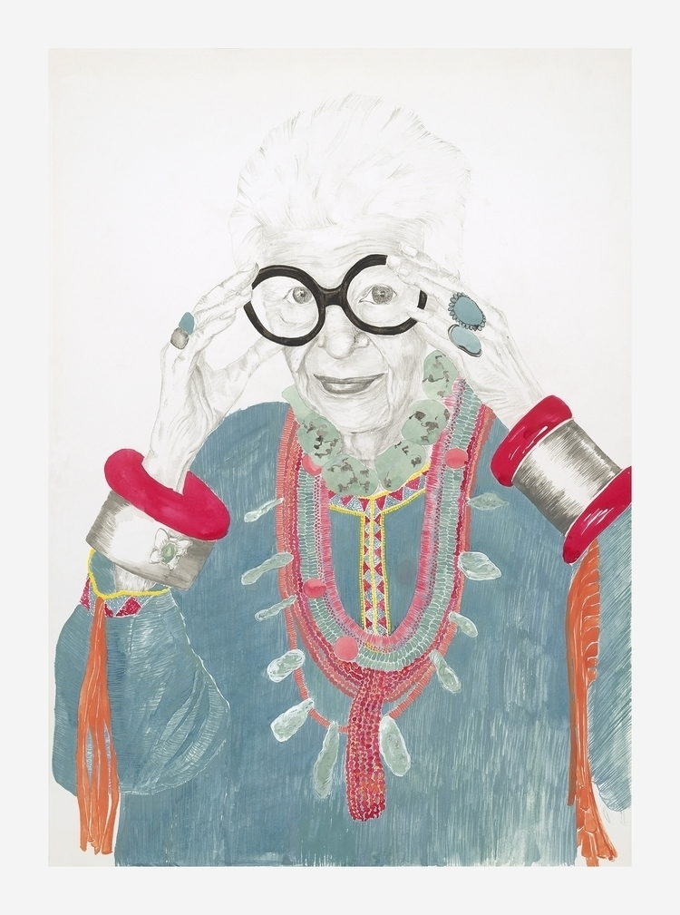 Iris Apfel, Geriatric starlet - illustration - catherinespinks | ello