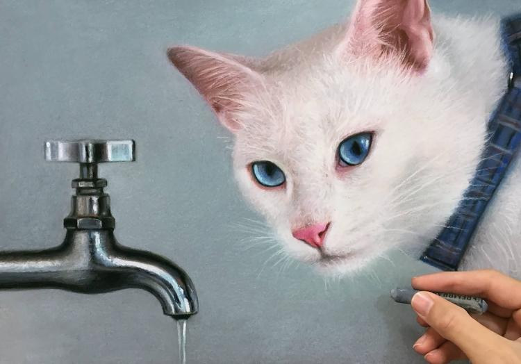 Drawing - Millani - cat, world, drawing - fabianomillani | ello