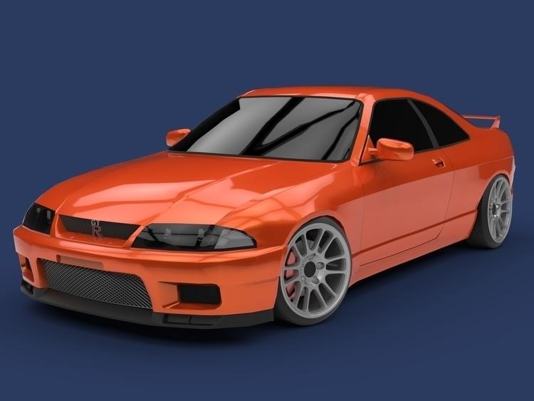 Nissan Skyline R33 - apparentlyartsy | ello