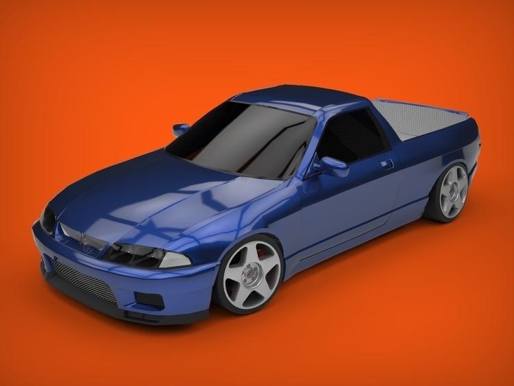 Nissan Skyline R33 ute - apparentlyartsy | ello