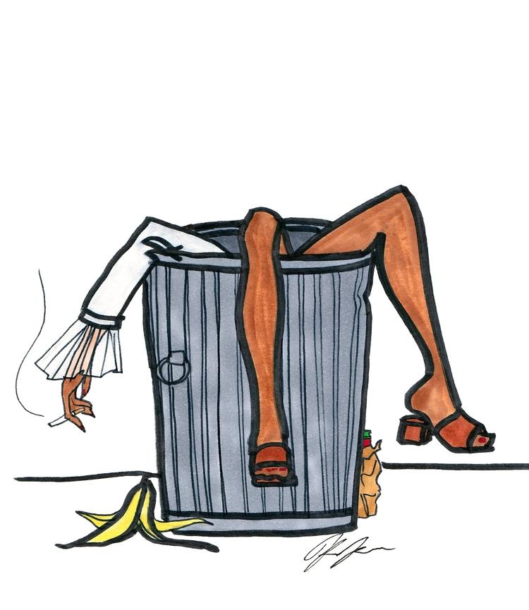 8X10 Trashcan Girl, Marker pape - kimkyne | ello
