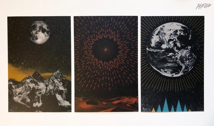 Moon, Sun, Earth - postcard ser - 1aeon | ello