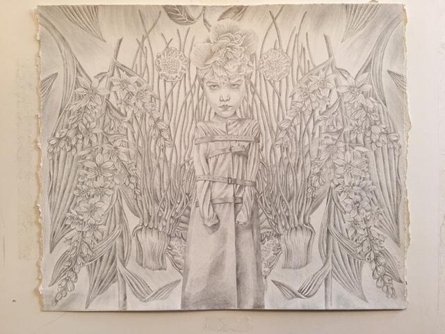 silverpoint drawing 'Wilderbeas - bunnyplanet | ello