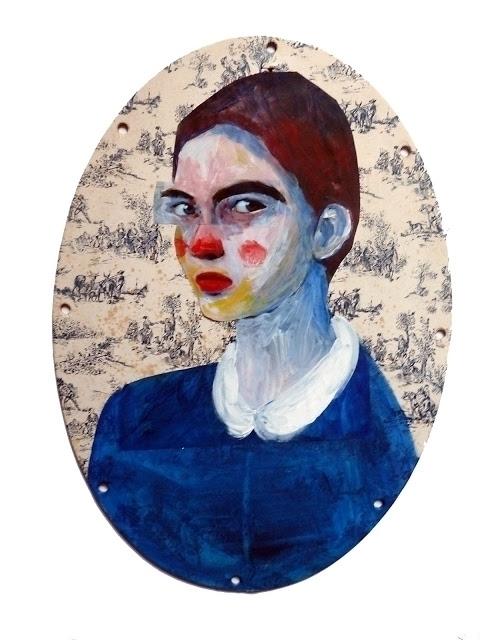 1 Portrait medaillon, 2018, acr - sandra_paris | ello