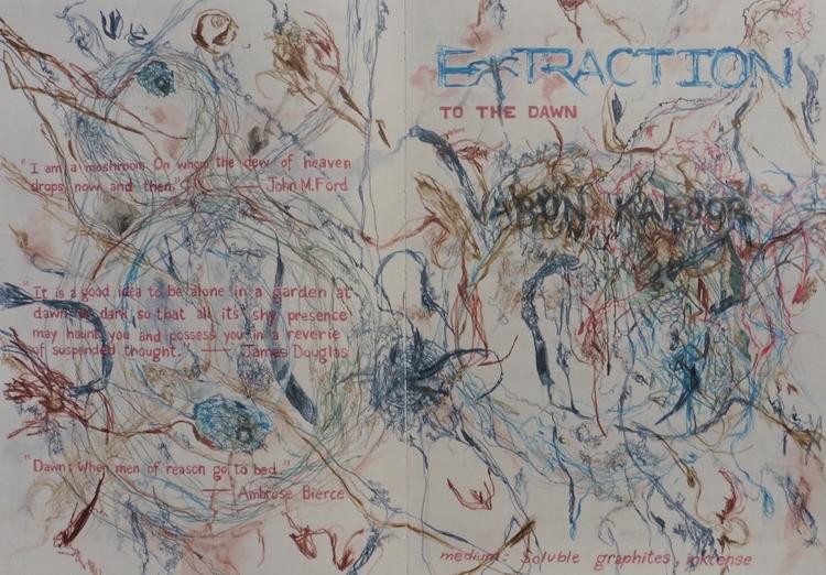 EXTRACTION— DAWN Watercolour pe - kcontemporaryart   ello