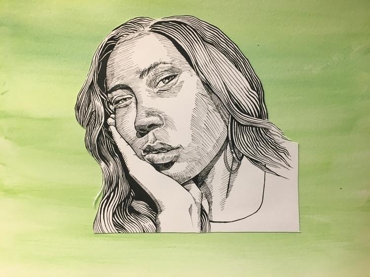 Portrait-Ashley  - portrait, illustration - tjd4art | ello