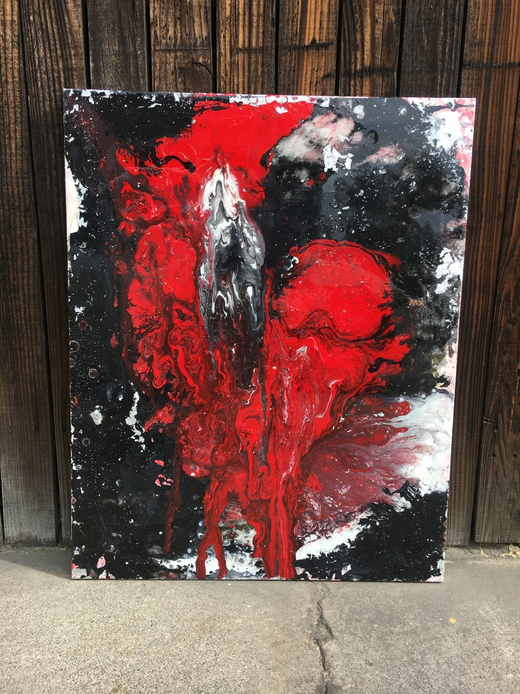 Untitled RED 24x30 Acrylic canv - jessicastein | ello