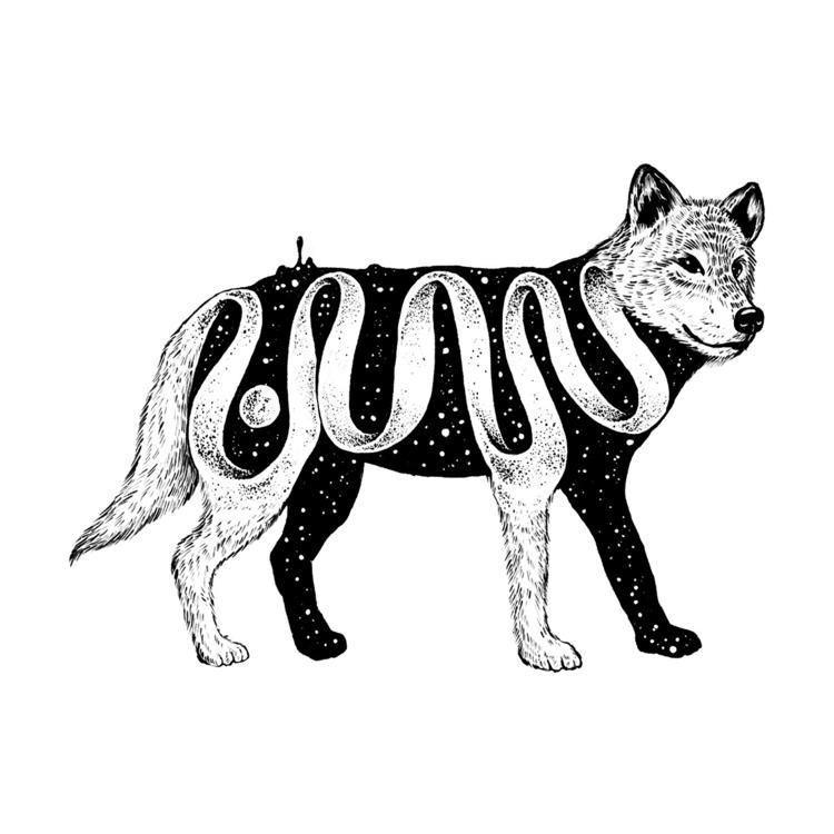 Lost Existence (Wolf - illustration - normanduenas | ello