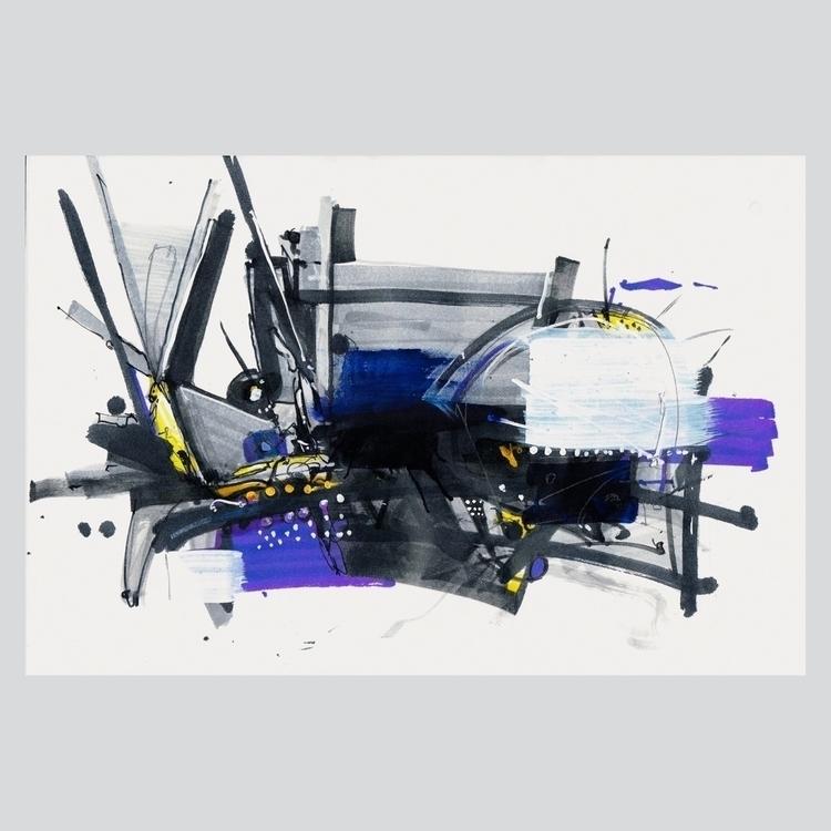 Multimedia paper - abstractart, composition - jcraywtf   ello