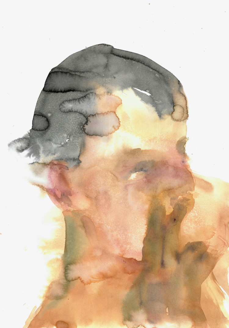 Yellow Face liquid watercolor 2 - dylansilva | ello