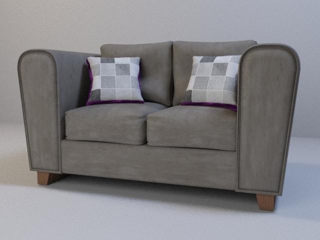 Gray suede sofa! Render - 3DSMax - crisnunz | ello