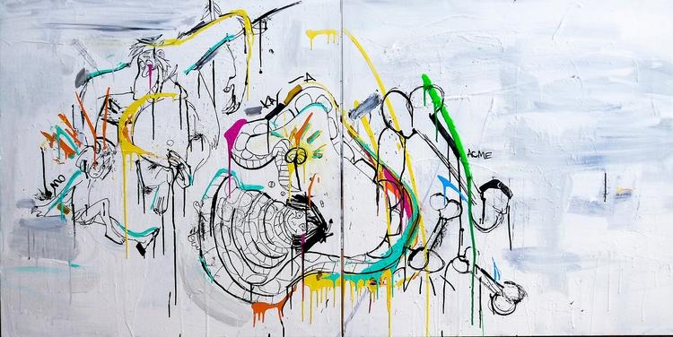 Pimp Louie Painting, 36 72 1.5  - janvanpersie | ello