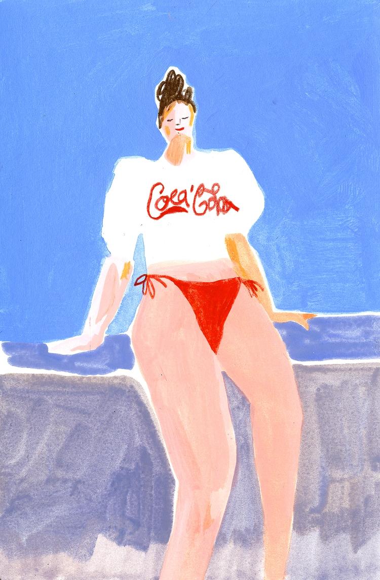 Summer girl - illustration, drawing - draw_spring | ello
