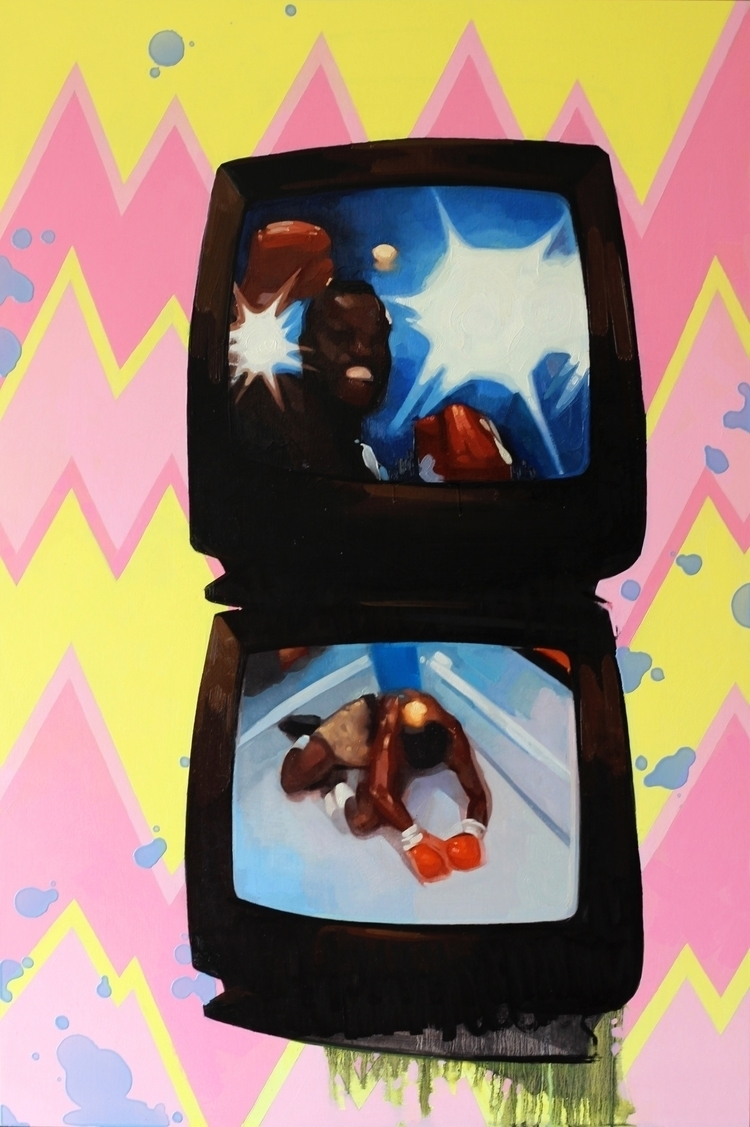 Date Night, 24x36, oil panel - contemporaryart - feliciaforte | ello