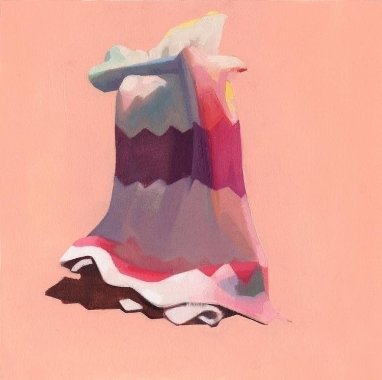 Afghan Abstracted- Peach, oil p - feliciaforte | ello