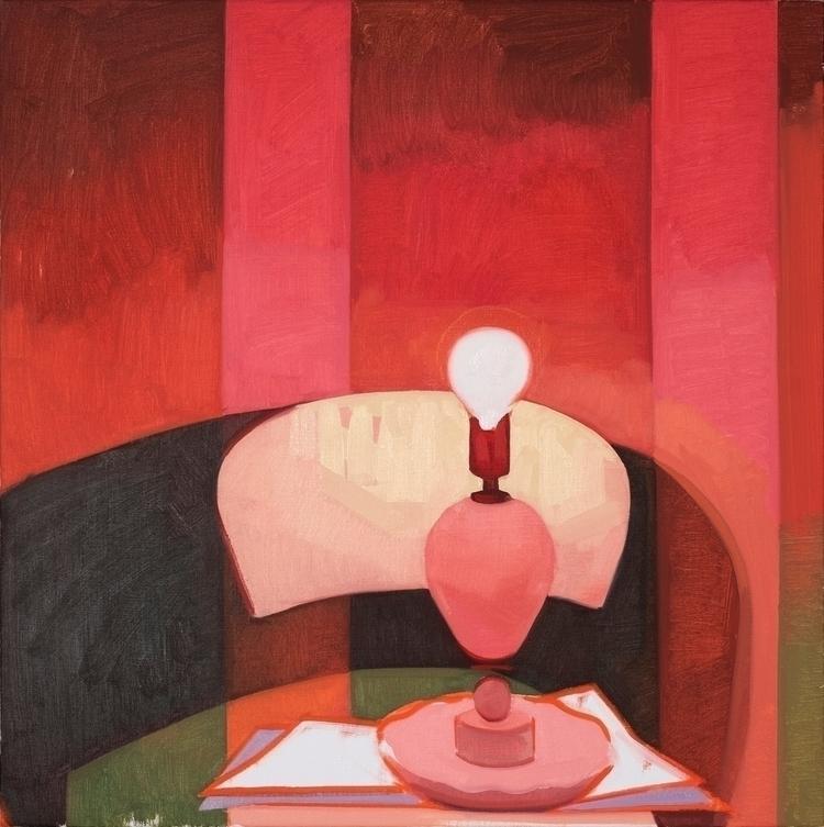 Red Light oil canvas, 24x24 - feliciaforte - feliciaforte | ello