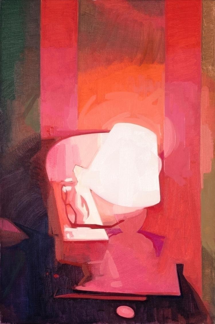 Red Light oil canvas, 20x30 - feliciaforte - feliciaforte | ello