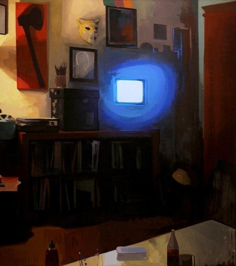 Night Cereal oil canvas 48x54 - feliciaforte - feliciaforte | ello
