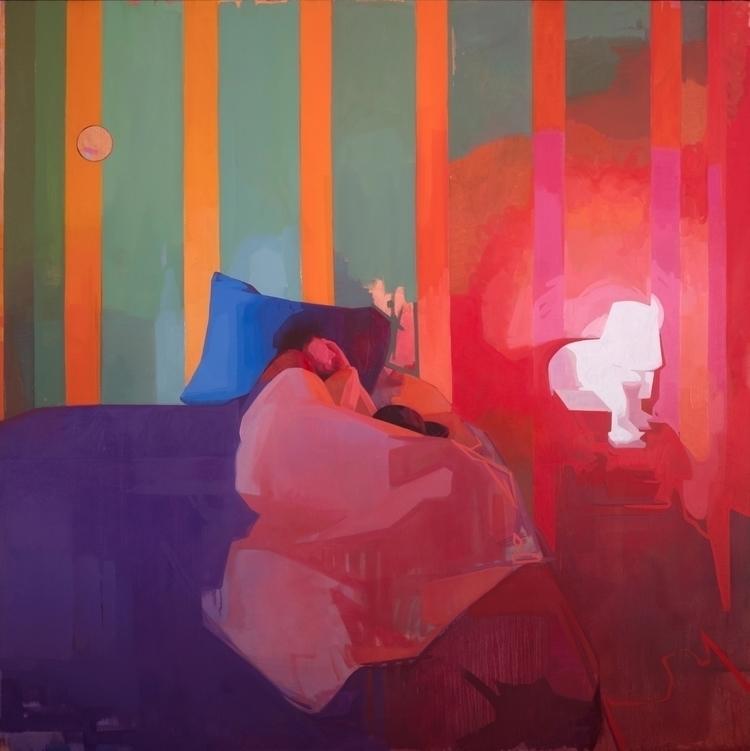 Time Traveler, oil canvas 72x72 - feliciaforte | ello