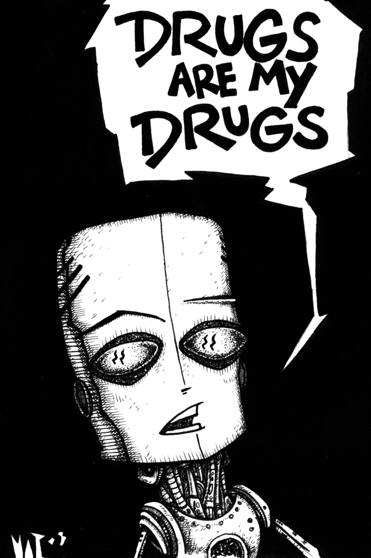 people art, music... drug.' sub - garage_illustration | ello