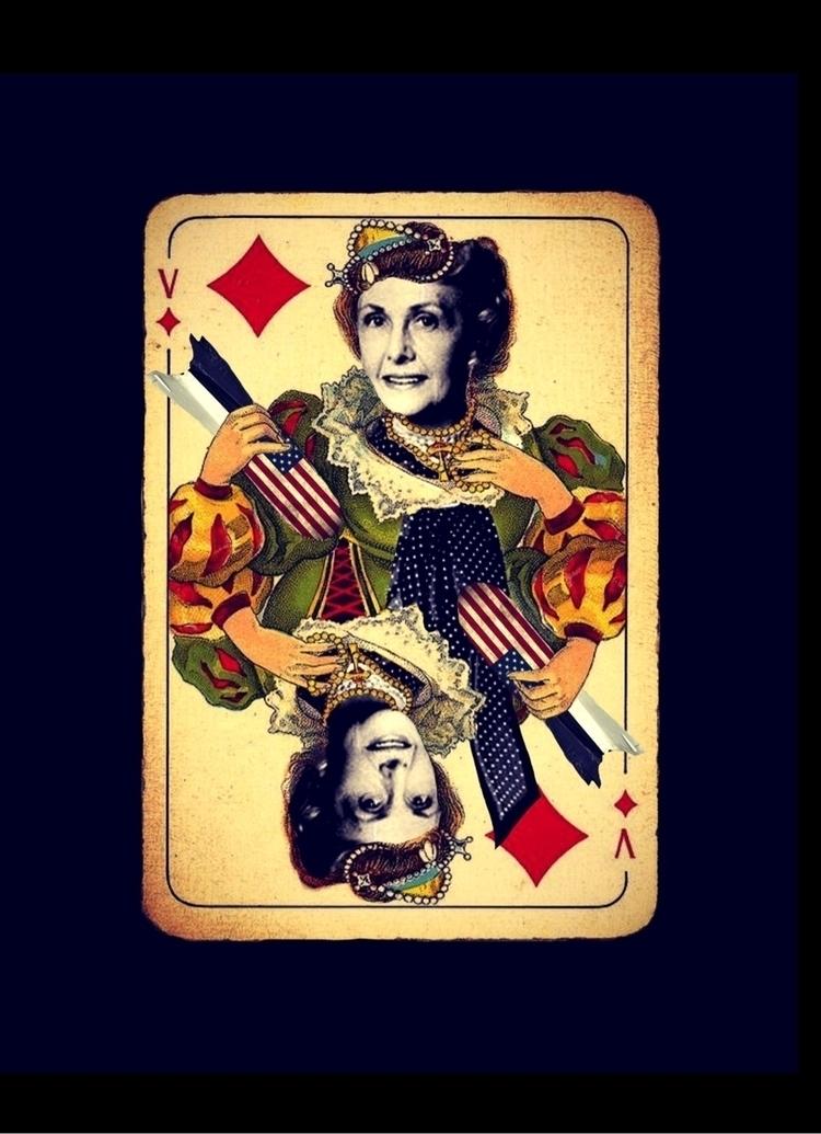 diamonds, cards, collage, ellocollage - ixchelailee | ello