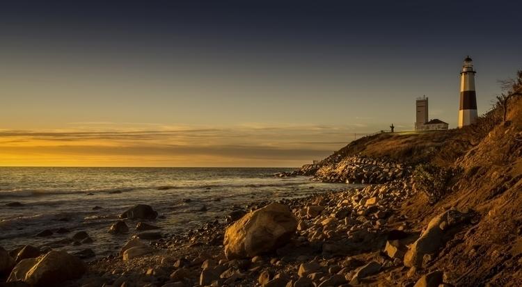 lighthouse, sunrise, sea, landscape - hoovertung   ello