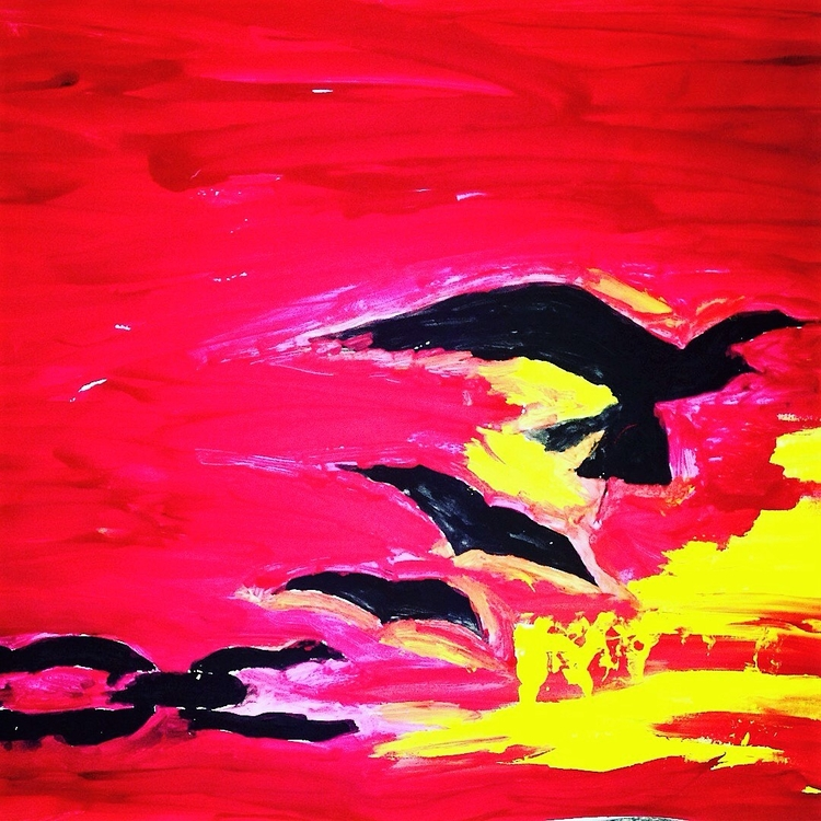 Freedom Sin Silhouette PAINTING - loveartwonders | ello