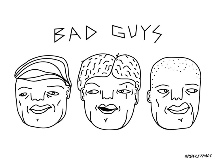 1) bad guys (20x16) adobe illus - devonsegall | ello