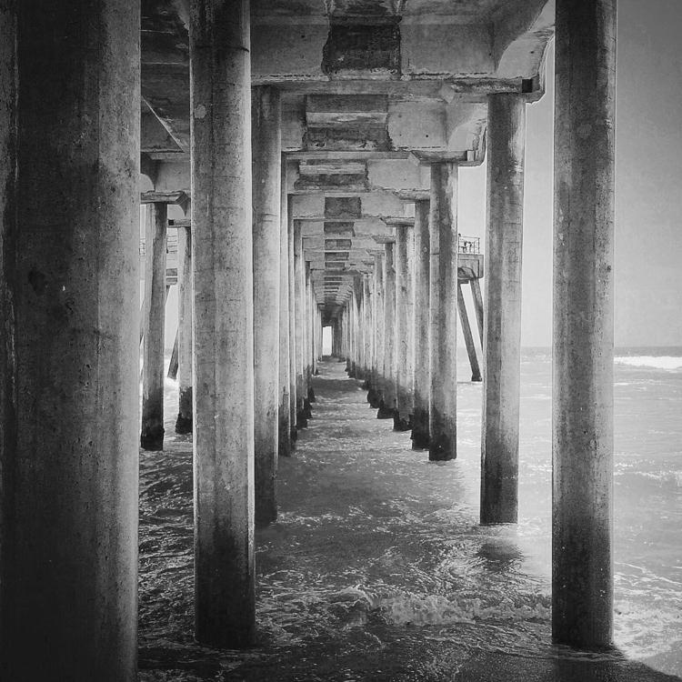 ... HB pier - photography, blackandwhite - j-stu | ello
