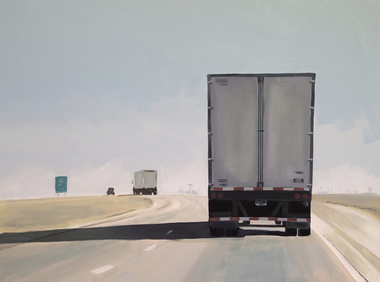 NORTH 9 30x40 acrylic/canvas - highway - jeffbessart | ello