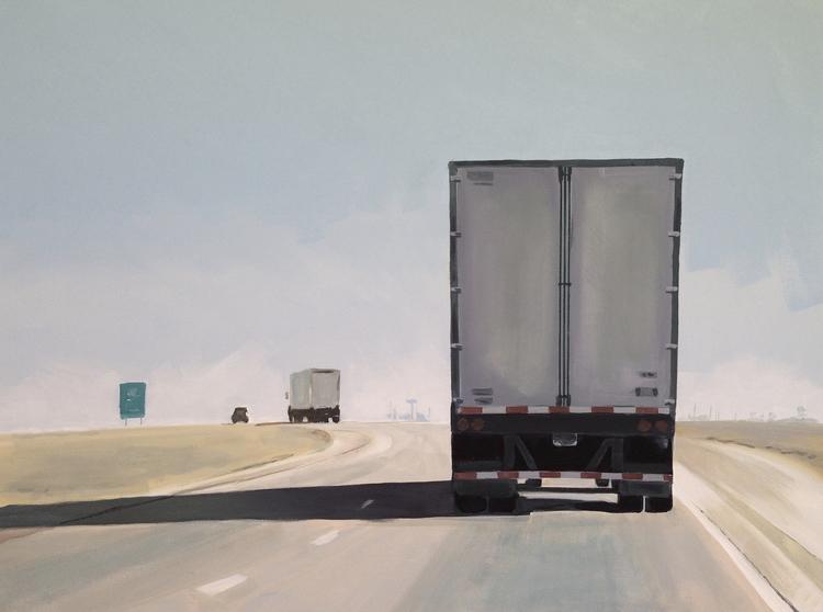 NORTH 9 30x40 acrylic/canvas - highway - jeffbessart | ello
