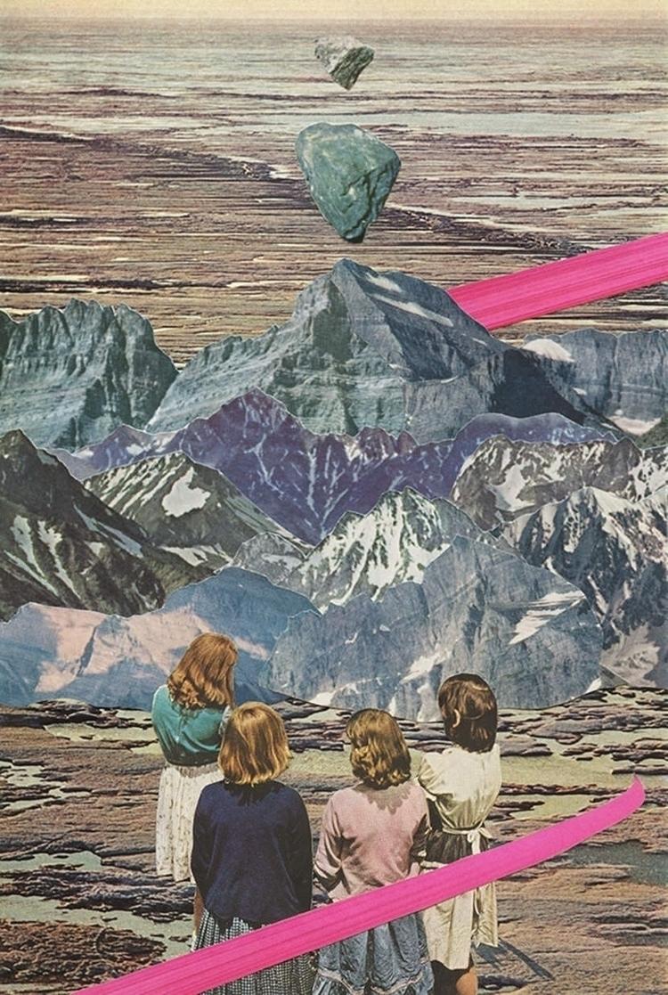 handmade collages - cole-train   ello