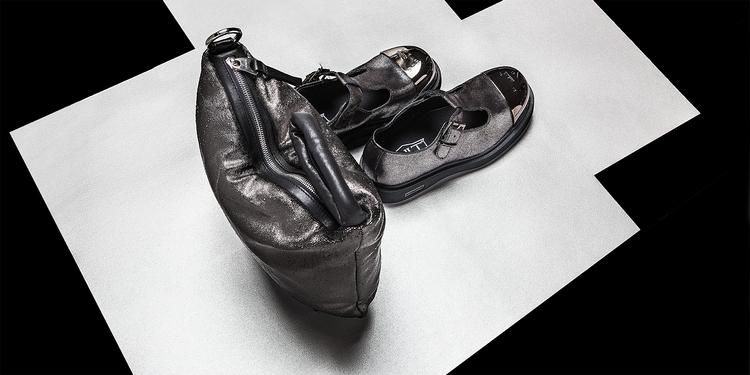 Silver shiny leather doubt tren - corazzaspace | ello