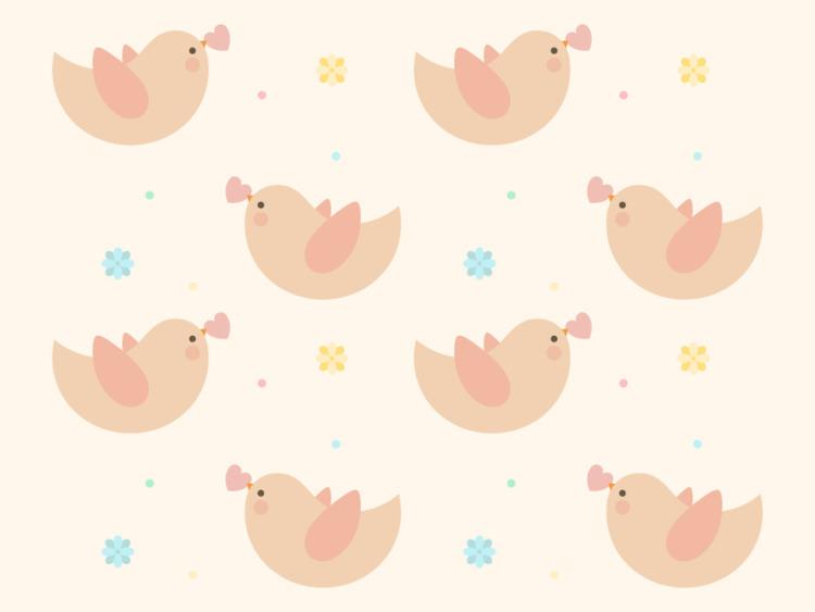Love Birds - illustration, vector - tend | ello