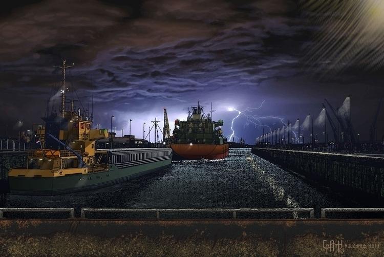 Sea Lock. series: Ugliest City  - dickholzhaus | ello