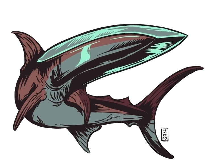 Swordfish - illustration - thomcat23 | ello