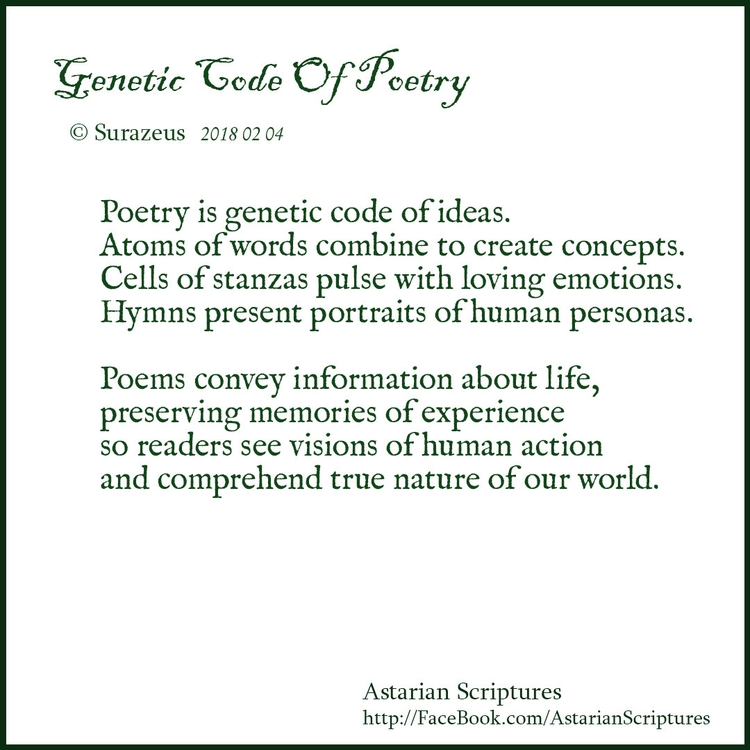 Genetic Code Poetry Surazeus 20 - surazeus | ello