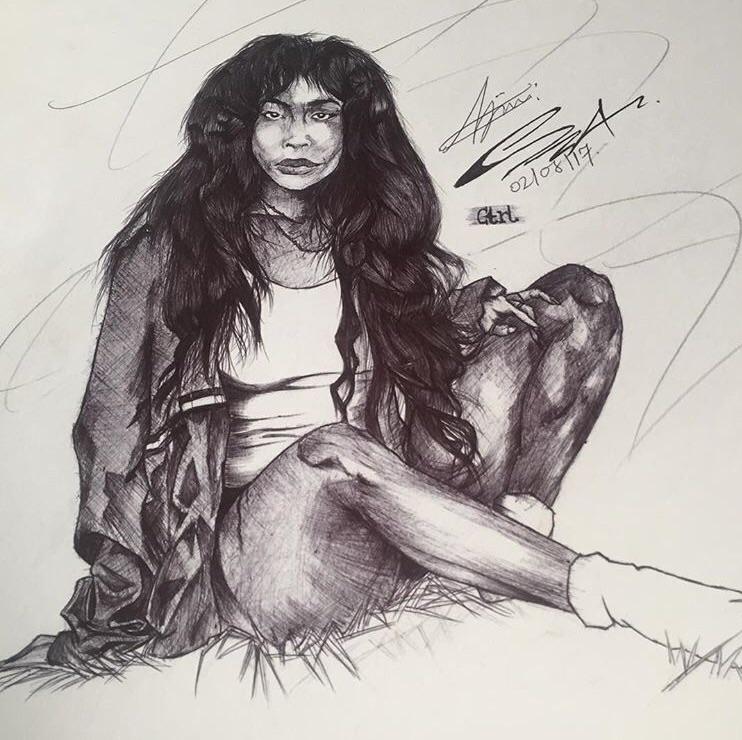 Black pen art 🤙:type_5:🤙:type_5 - ridwan_aa | ello
