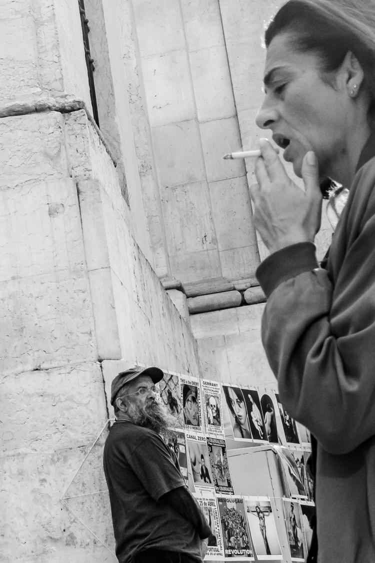 streetphotography, lisbon, blackandwhite - gilbyvm   ello