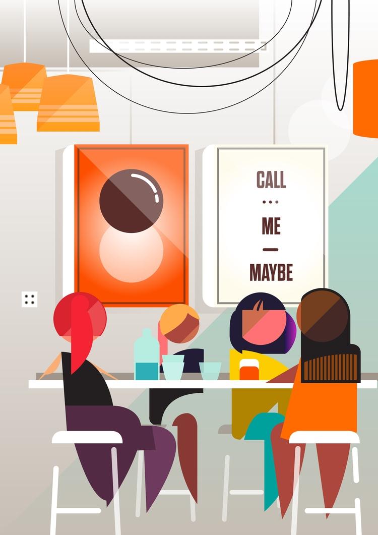 Operator 25 cafe Melbourne, Aus - bentheillustrator | ello