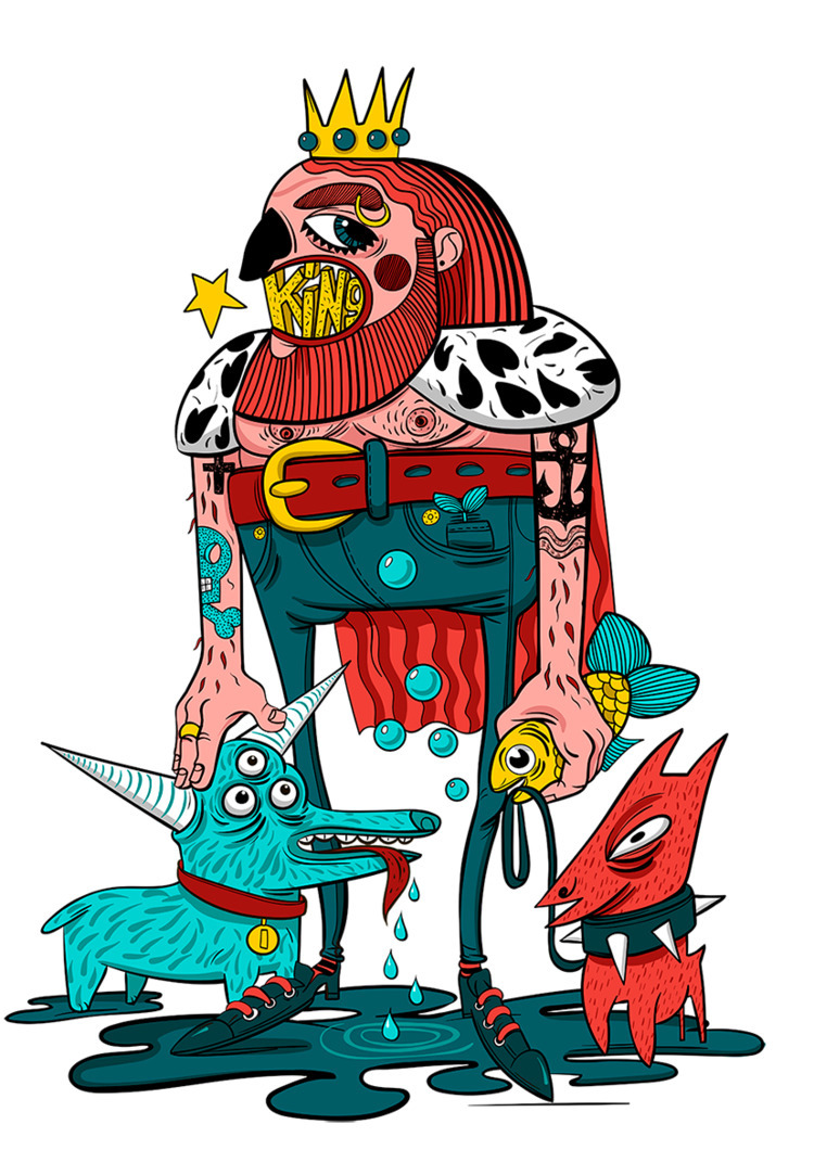 characters, illustration - shustinakatya | ello