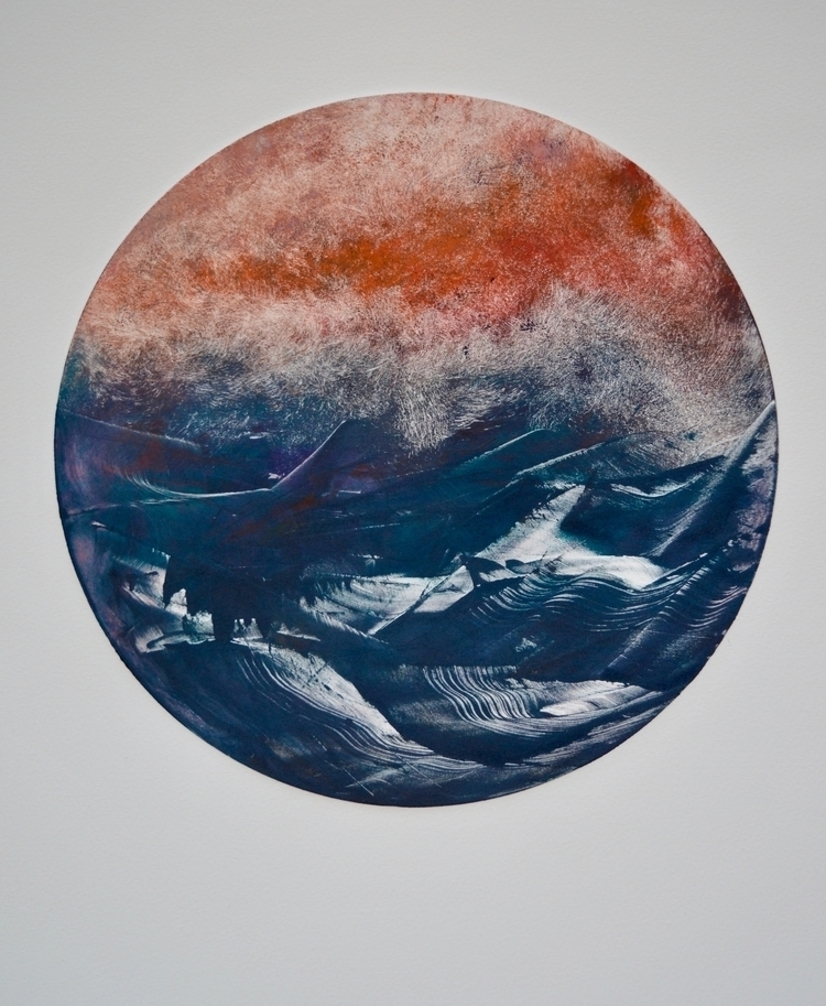 3 Ocean Series Ink wiped Monopr - awingding | ello
