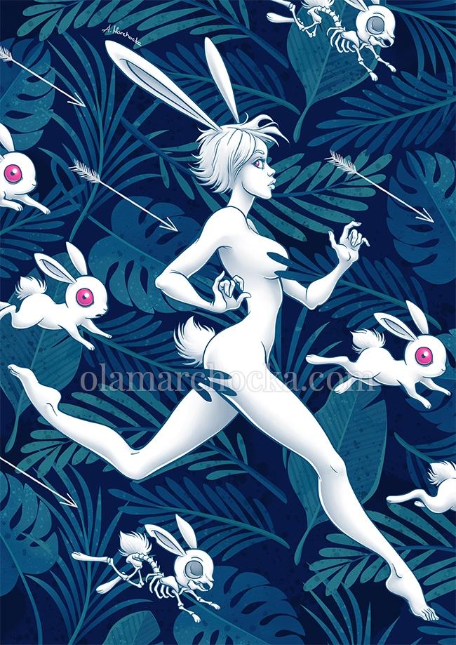 Chase Bunny - bunny, rabbit, forest - aleksandracupcake | ello