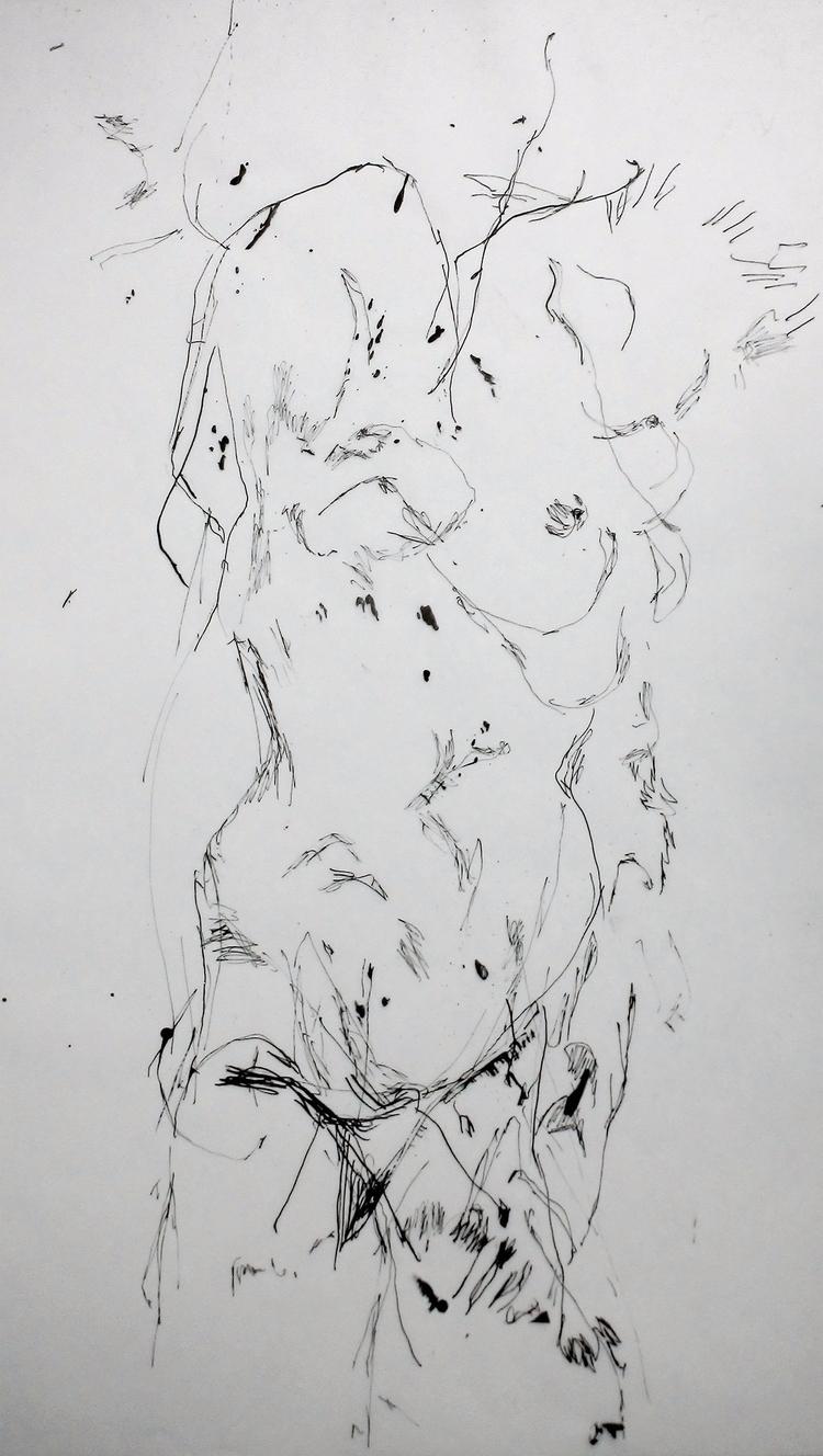 French Artist, created drawing  - nonude-libre | ello