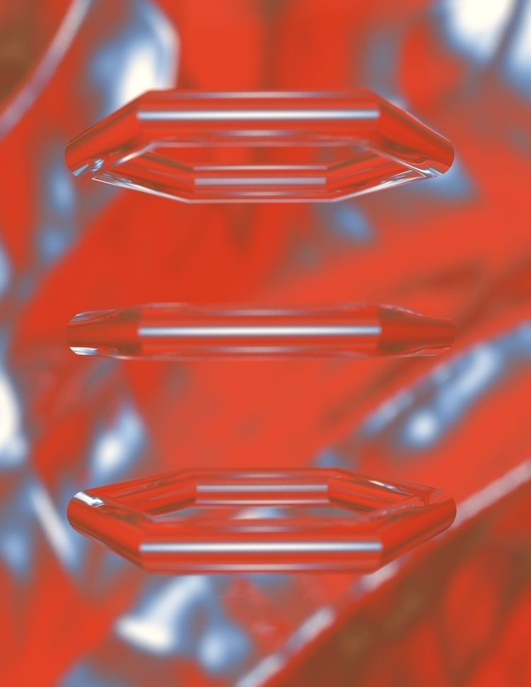 RED HEXAGONS - print society 6  - cameron-galley | ello
