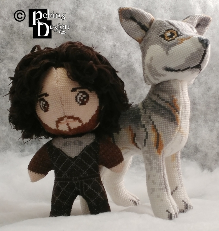 Jon Snow 3D cross stitch. stand - rhaben | ello