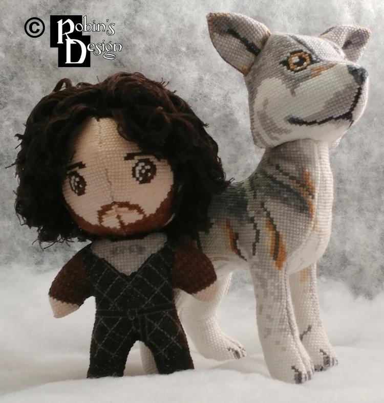 Jon Snow 3D cross stitch. stand - rhaben | ello
