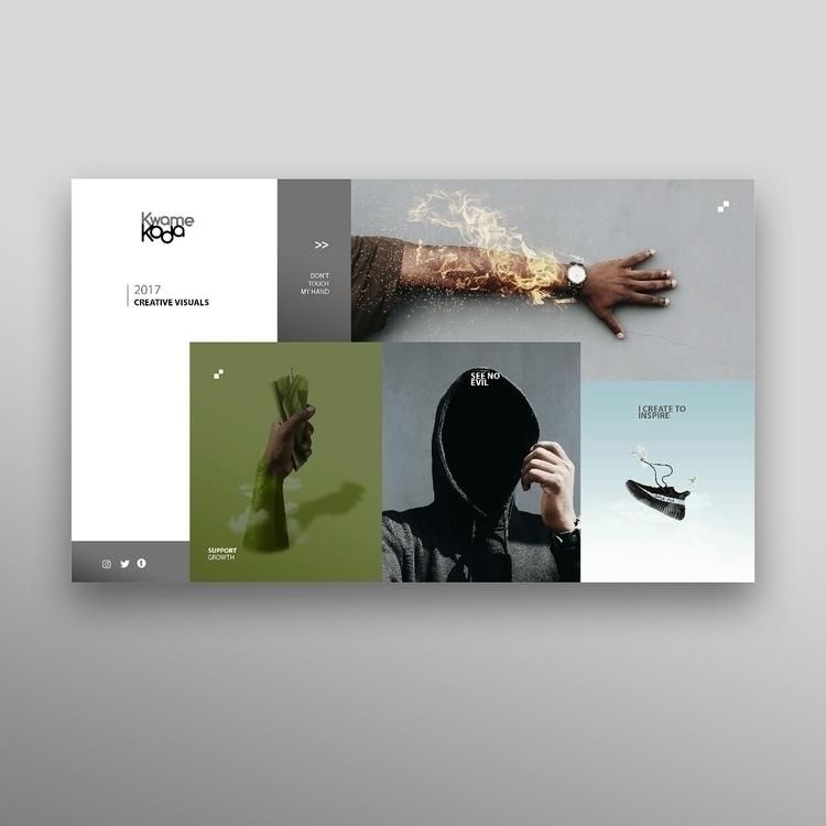 Designed website mockup - kwamekoda   ello