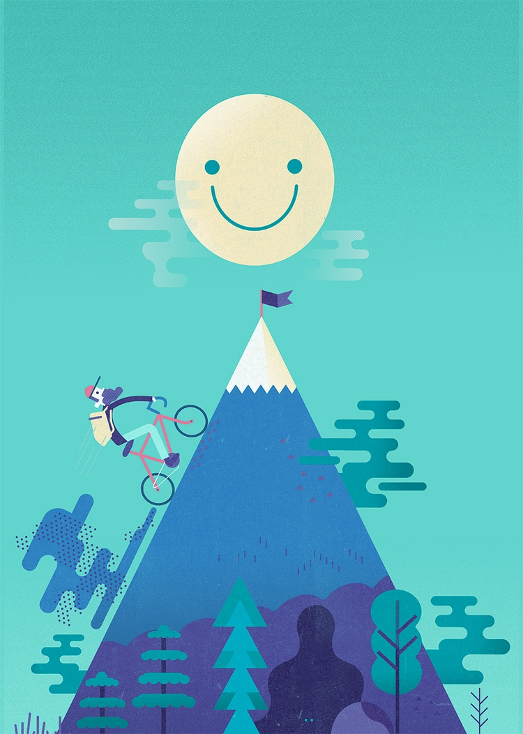 ello! �#bike - mountain, illustration - schnuppe | ello